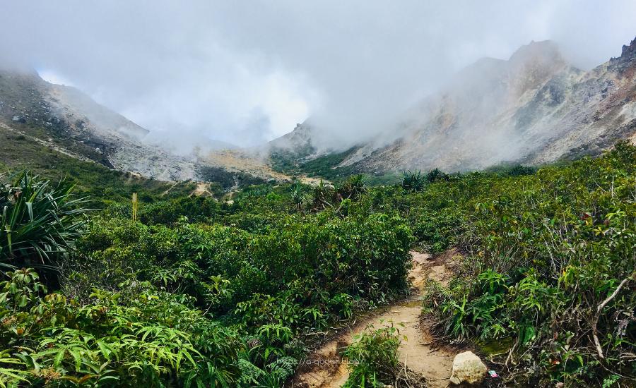 بركان سيباياك قرية بيراستاقي سومطرة إندونيسيا
