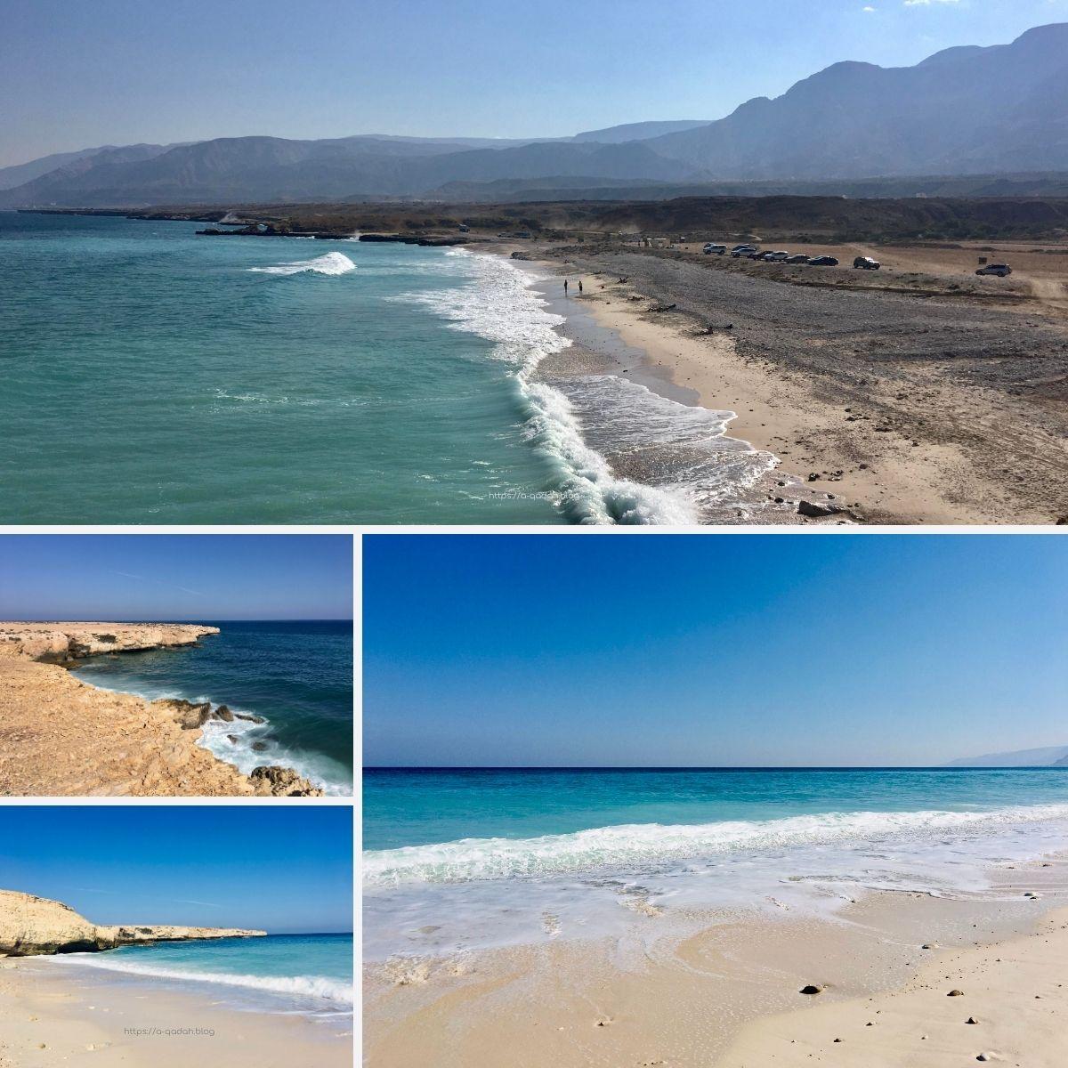 شاطئ فِنس الشاطئ الأبيض والشاطئ الصخري سلطنة عمان