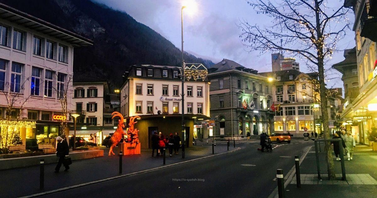 انترلاكن سويسرا شتاء