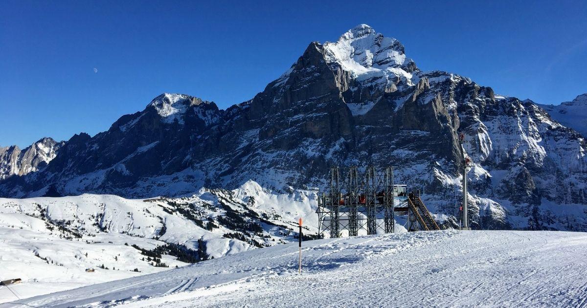 التزلج في قريندلفالد انترلاكن سويسرا المغامرة